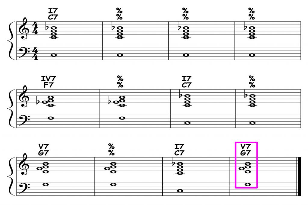 piano-ology-blues-school-major-blues-12-bar-form-and-harmony-variation-04-featured