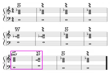piano-ology-blues-school-major-blues-12-bar-form-and-harmony-variation-05-featured