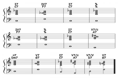piano-ology-blues-school-major-blues-12-bar-form-and-harmony-variation-08-featured