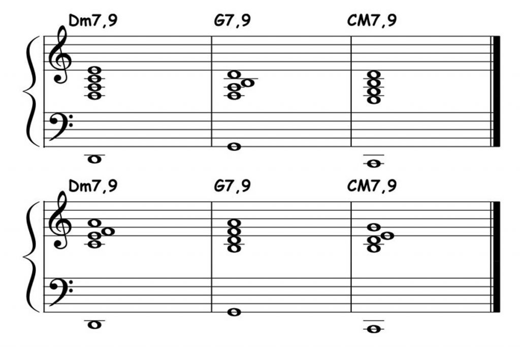 piano-ology-jazz-school-major-two-five-one-progression-etude-9-9-9-chord-voicings-featured